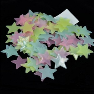 Стікери зірочки, що світиться у темряві - МІКС 100 шт.