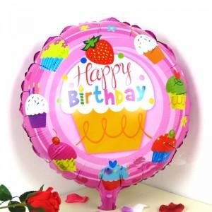 Кулька Коло 18 дюймів happy birhtday 12 ( 45 см )