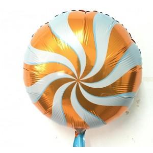 Кулька Коло 18 дюймів ЛЬОДЯНИК ПОМАРАНЧЕВИЙ ( 45 см )