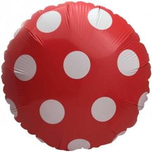 Кулька Коло 18 дюймів ПОЛЬКА ЧЕРВОНА ( 45 см )