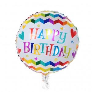 Кулька Коло 18 дюймів happy birhtday 07 ( 45 см )