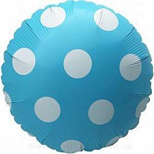 Кулька Коло 18 дюймів ПОЛЬКА БЛАКИТНА ( 45 см )