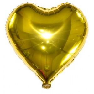 Кулька Сердце 18 дюймів ( 45 см ) ЗОЛОТЕ