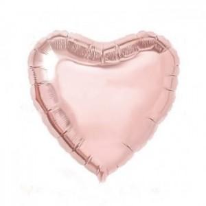 Кулька Сердце 18 дюймів ( 45 см ) РОЖЕВЕ ЗОЛОТО