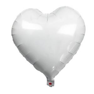 Кулька Сердце 18 дюймів ( 45 см ) БІЛЕ