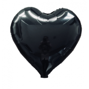 Кулька Сердце 18 дюймів ( 45 см ) ЧОРНЕ