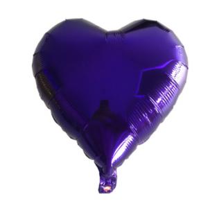 Кулька Сердце 18 дюймів ( 45 см ) ФІОЛЕТОВЕ