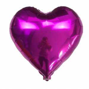 Кулька Сердце 18 дюймів ( 45 см ) ФУКСІЯ