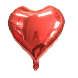 Кулька Сердце 18 дюймів ( 45 см ) ЧЕРВОНЕ