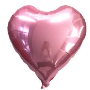 Кулька Сердце 18 дюймів ( 45 см ) РОЖЕВЕ