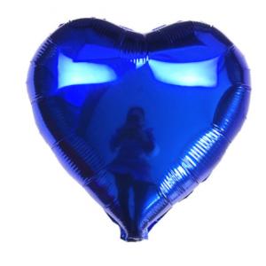 Кулька Сердце 18 дюймів ( 45 см ) СИНЄ
