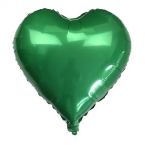 Кулька Сердце 10 дюймів ( 25 см ) ЗЕЛЕНЕ