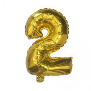 "Кулька цифра ""2"" ЗОЛОТО, 40 см (14 дюймів)"
