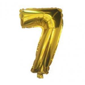 "Кулька цифра ""7"" ЗОЛОТО, 40 см (14 дюймів)"