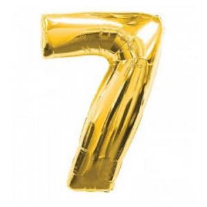 "Кулька цифра ""7"" ЗОЛОТО, 70 см (30 дюймів)"