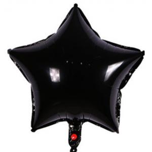 Кулька Зірка 18 дюймів ( 45 см ) ЧОРНА
