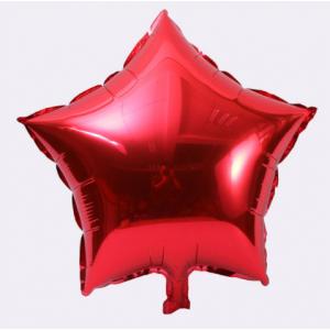 Кулька Зірка 18 дюймів ( 45 см ) ЧЕРВОНА