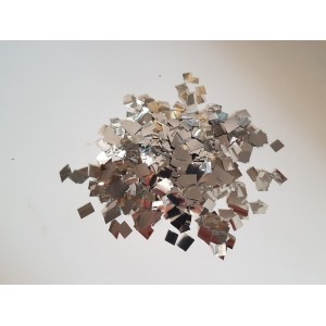 Конфетти - квадратики СЕРЕБРО. В упаковке 100 грамм.