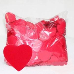 Конфеті серця ЧЕРВОНІ. В упаковці 10 грам
