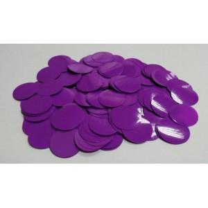 Конфетти - кружки ФИОЛЕТОВЫЕ. В упаковке 100 грамм.