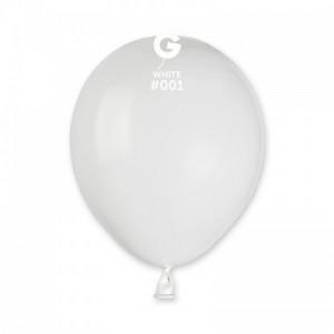 Повітряна кулька 5 дюймів (13 см) БІЛА  пастель
