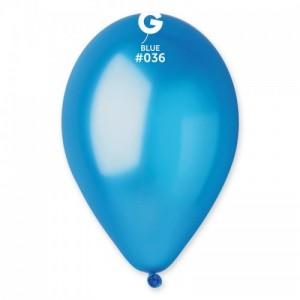 Повітряна кулька 12 дюймів (30 см) СИНІ металік