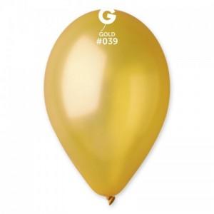 Повітряна кулька 10 дюймів (25 см) ЗОЛОТО металік