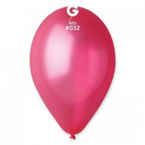 Повітряна кулька 10 дюймів (25 см) ЧЕРВОНА металік