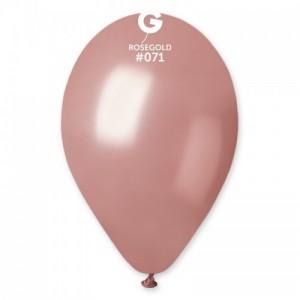 Повітряна кулька 10 дюймів (25 см) РОЖЕВЕ ЗОЛОТО металік