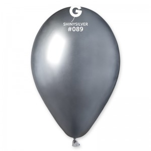 Повітряна кулька 13 дюймів (33 см) СРІБЛО ХРОМ
