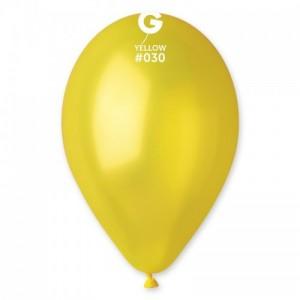 Повітряна кулька 12 дюймів (30 см) ЖОВТА металік