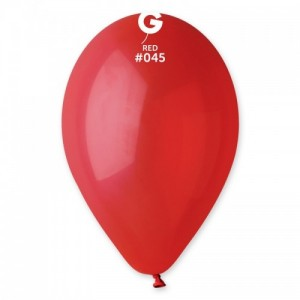 Повітряна кулька 10 дюймів (25 см) ЧЕРВОНА пастель