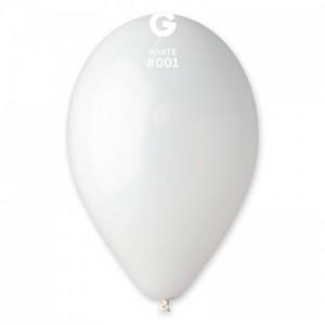 Повітряна кулька 10 дюймів (25 см) БІЛА пастель