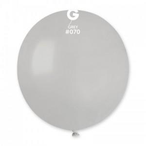 Повітряна кулька 19 дюймів (48 см) СІРА пастель