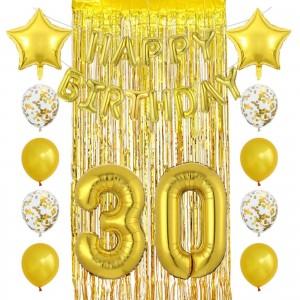 """Набор шаров на день рождения, """"HAPPY BIRTHDAY"""" 056"""