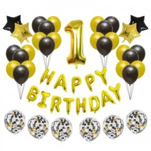 """Набір куль на день народження, """"HAPPY BIRTHDAY"""" 060"""