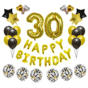 """Набір куль на день народження, """"HAPPY BIRTHDAY"""" 061"""