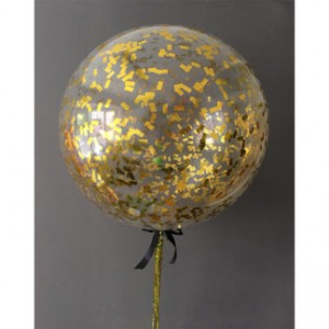 Куля повітряна з метафаном ЗОЛОТО / СРІБЛО