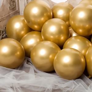 Повітряна кулька 10 дюймів (25 см) ЗОЛОТО ХРОМ